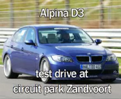 Video of ALPINA D3 at Zanndvoort race track
