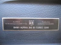 ALPINA B10 Bi Turbo number 295 - Click Here for more Photos